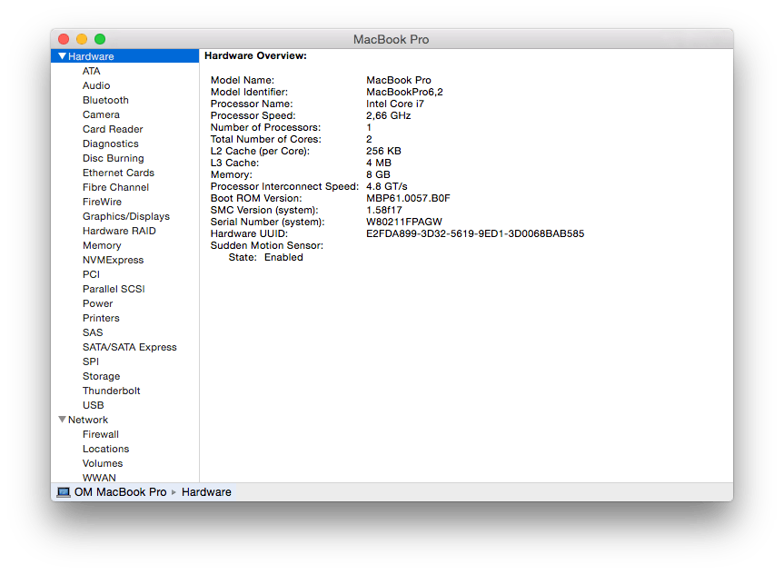 Look up the 'Model Identifier' entry in System Report to find your Mac model version.