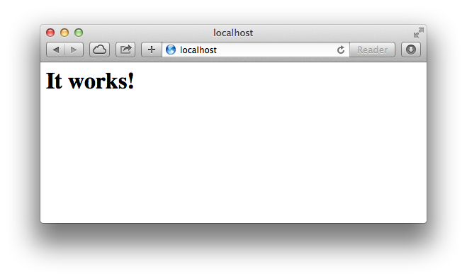 Enable Apache on Mac OS X
