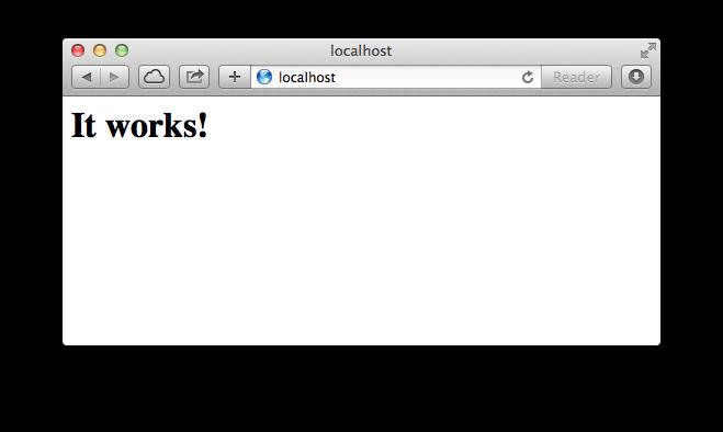 local web server:
